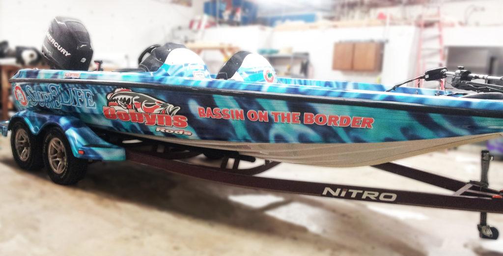 Marine Boat Wrap San Antonio Texas