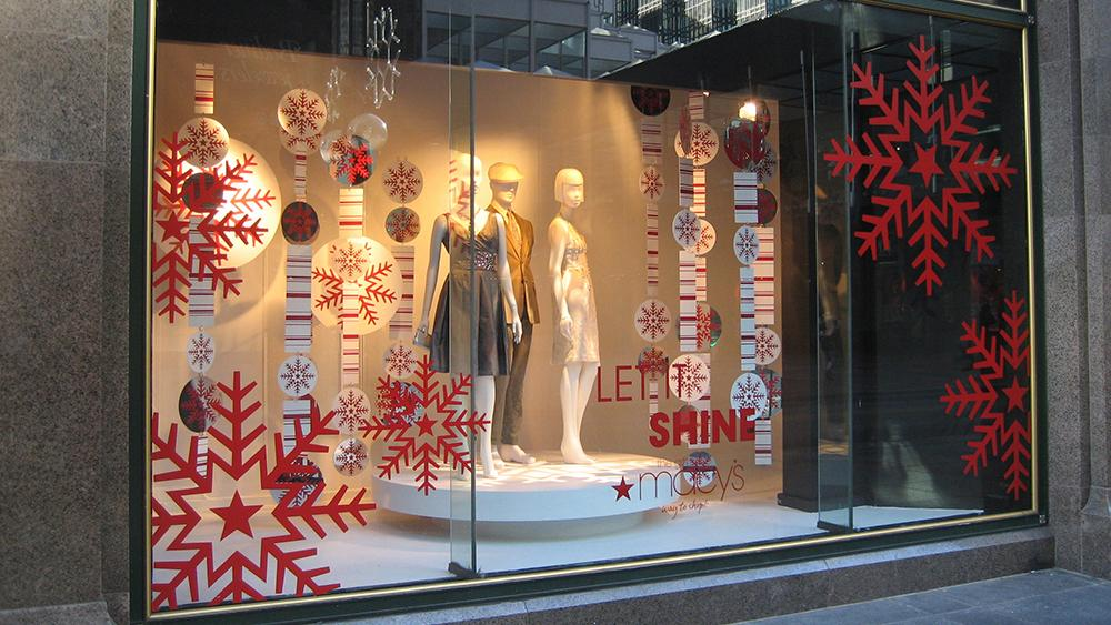 holiday retail glass decal