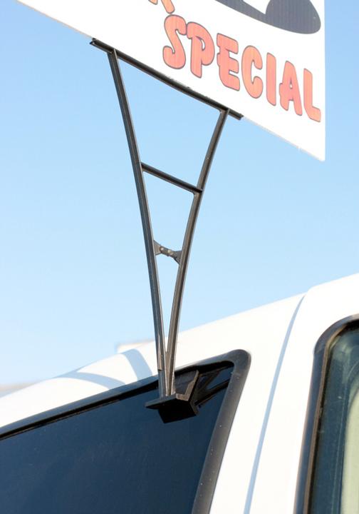 usa window clip sign holder