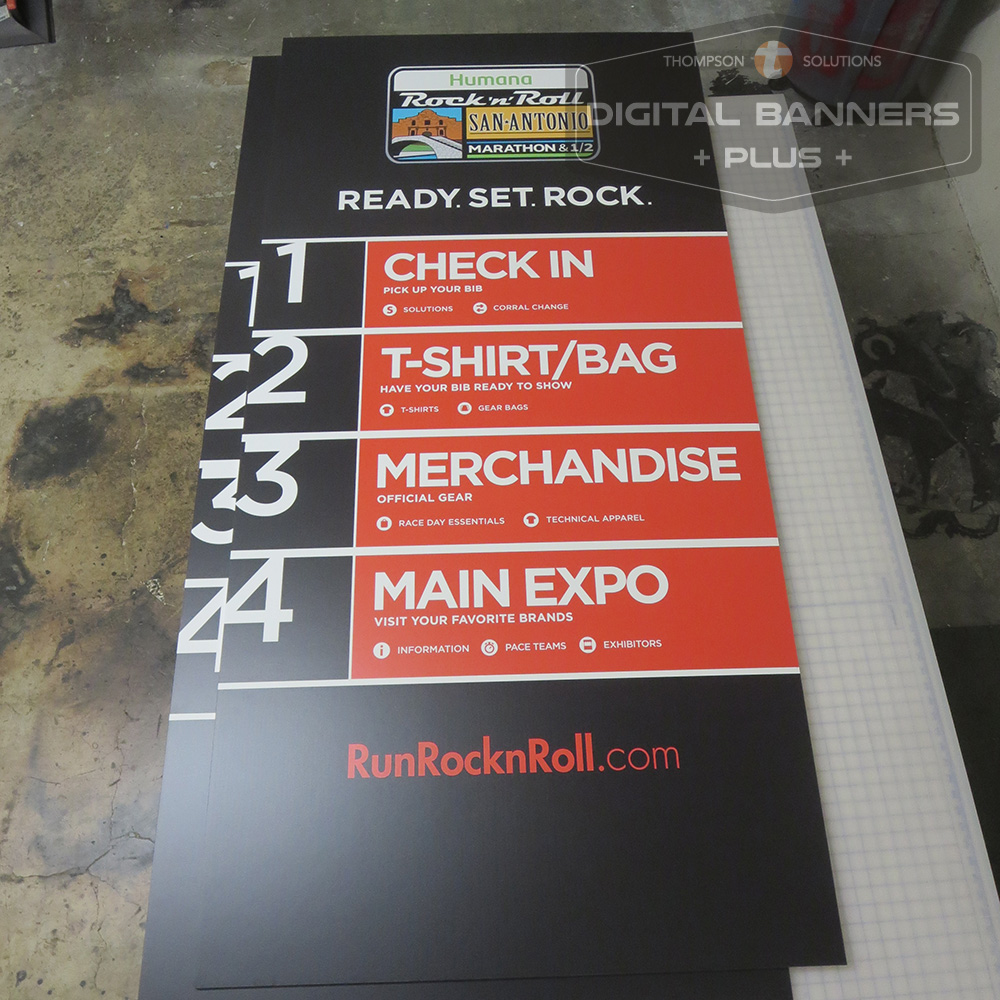 Digital Banners Plus DIBOND printed poster, durable enough for outdoor display