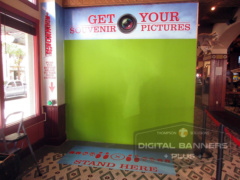 "Digital Banners Plus makes ""Selfie"" wall coverings for business patrons to take souvenir pictures."