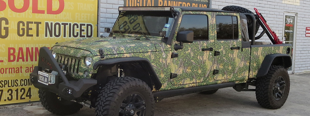 Bushlan Camo-Wrapped Jeep
