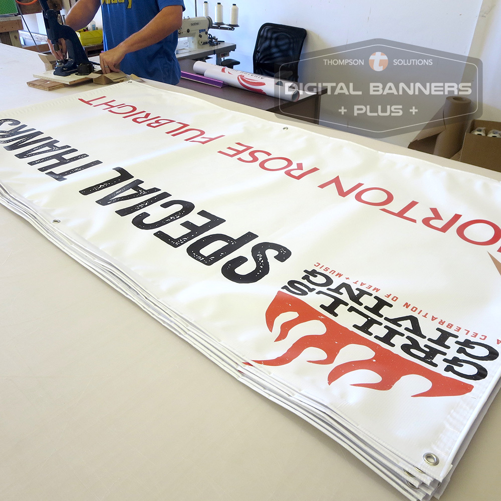 Vinyl banners are inexpensive for around event parameters