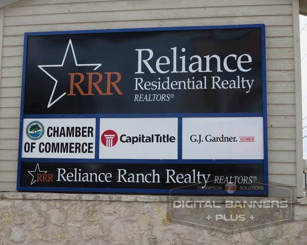 Realty Signs can be on buildings