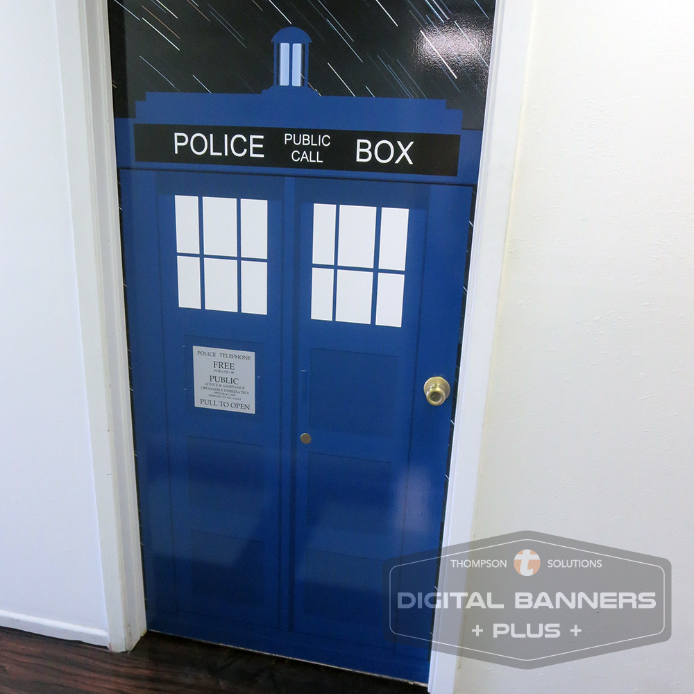 wall wraps can also be on doors
