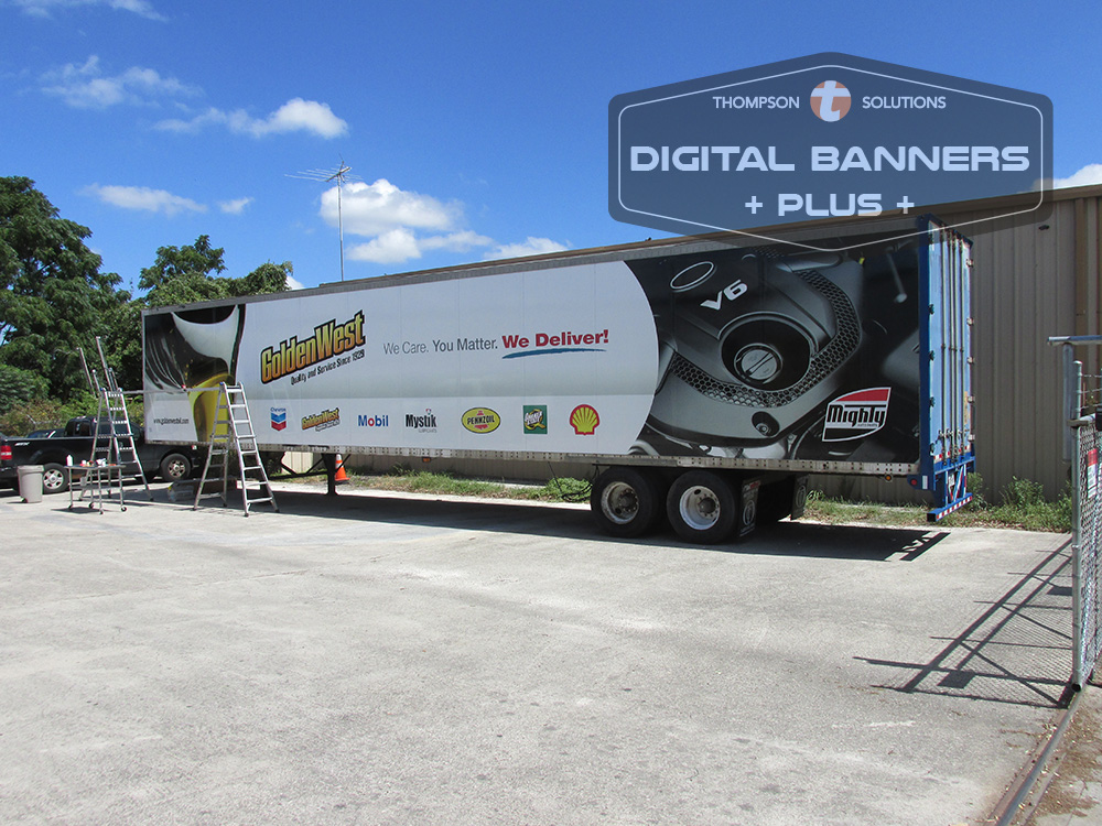 Commercial Wraps on a Semi trailer