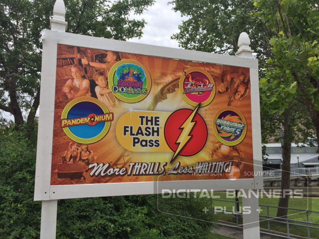 Six Flags Over Texas Large Poster Board